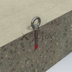 AP125A XPLORA Concrete Mount Anchor for rope access and fall arrest