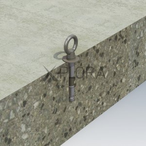 AP126 XPLORA Concrete Mount Anchor for fall arrest and rope access
