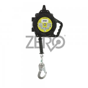 HR026 Zero Retractable Wire Rope Lanyard with Snap Hook