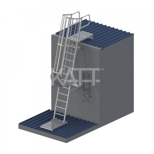 LD31 KATT Angled Cage Ladder for roof top access