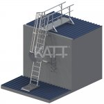 LD33 KATT Angled Cage Ladder for roof access