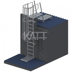 LD42 KATT Vertical Cage Ladder for access to roofs