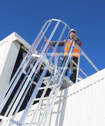 Roof access using Katt modular ladders by Sayfa