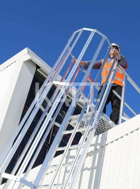 Roof access image showing Katt modular ladder by Sayfa