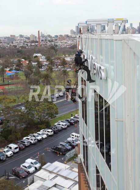 Height Safety Image featuring Raptor rigid rail by Sayfa