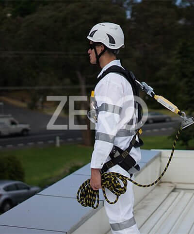 Working at height using Zero harness gear