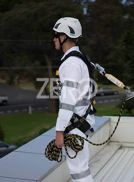 Working at heights image showing Zero harness gear