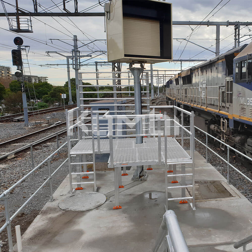 Kombi modular stair and platform systems installed at Caulfield Railway Station