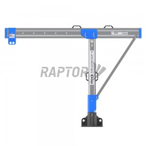 Raptor davit arm used for rope access facade maintenance