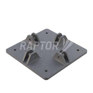 Raptor Davit Base, Low Profile for rope access facade maintenance