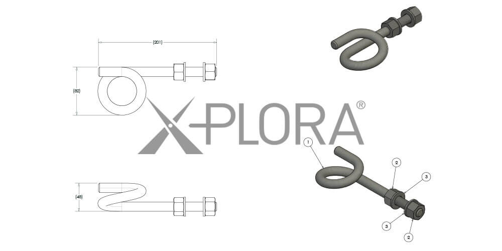 Xplora Pigtail Anchors installed on The Ribbon