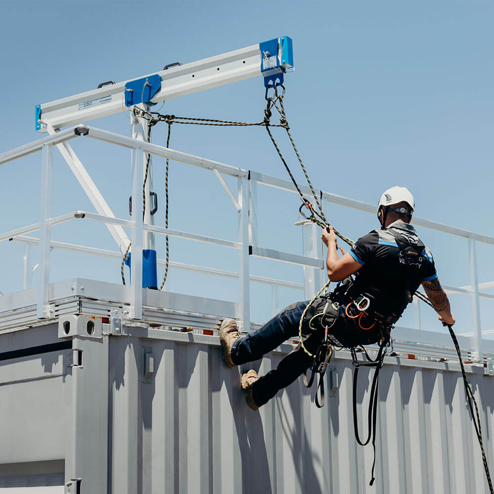 RAPTOR Davit System - rope access for facades