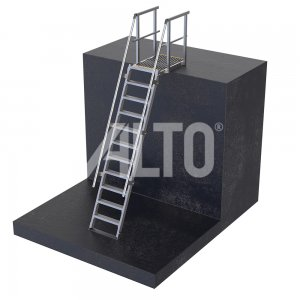 ST580M ALTO Modular Step Ladder provides access to plant and roof tops
