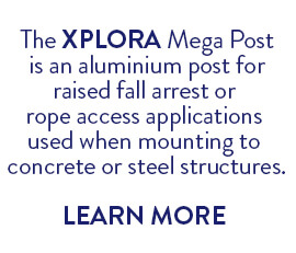 XPLORA Mega Post for raised fall arrest or rope access