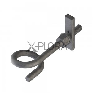 XPLORA Pigtail Lateral Restraint Anchor for rope access work positioning