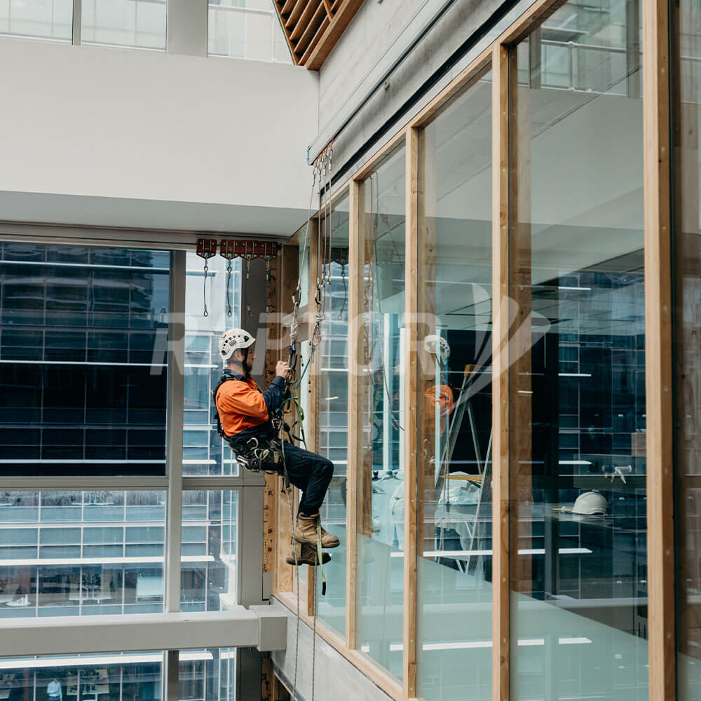 Raptor Rope Access Rigid Rail installed at 750 Collins Street