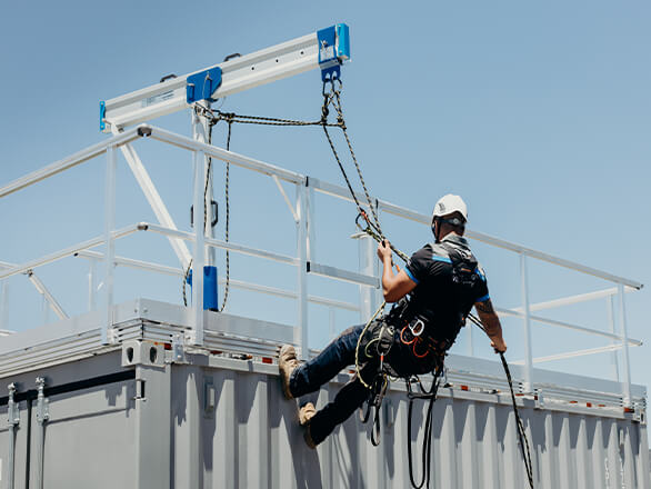 RAPTOR Davit Systems for rope access to facadeS